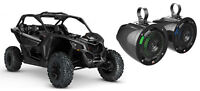 """MTX 6.5"""" 100 Watt Roll Bar Cage Tower Marine Speakers+LED's for Can-Am Maverick"""
