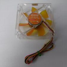 Akasa AK-182-L2B Ultra Quiet Fan - 80mm Amber Case Fan 2 Ball Bearing PaxPower!