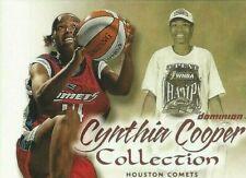 2000 WNBA FLEER DOMINION * CYNTHIA COOPER COLLECTION * CARD #7  THREE-PEAT