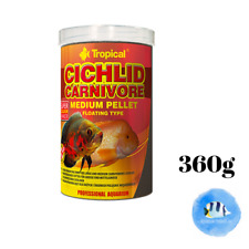 TROPICAL Cichlid Carnivore Medium Pellet 360g Floating Fish Food Enhance Colour