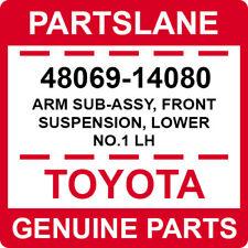 48069-14080 Toyota OEM Genuine ARM SUB-ASSY, FRONT SUSPENSION, LOWER NO.1 LH