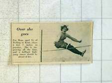 1955 16-year-old Pat Moss Welling Kent High Jump
