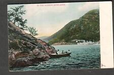 1907 post acrd In The Hudson Highlands post card river people boat steamboat