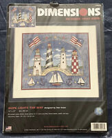 Hope Lights The Way Dimensions No Count Cross Stitch Kit #39023 Lighthouses NEW