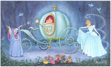 Disney Fine Art Limited Edition Canvas Fit For A Ball-Cinderella-St. Laurent