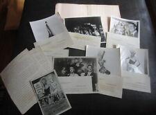 Vintage 50s BARRY ASHTON LES FEMMES DE PARIS MIAMI Program 8X10 Risque Photos