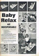 I- Publicité Advertising 1962 Siège bébé Baby Relax puericulture