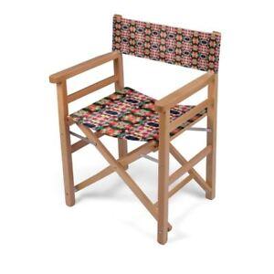 Kaleidoscope Designer Directors Chair, Handmade to order Sustainable Beech Wood
