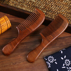 Premium Hair Combs Wood Comb Natural Gold Sandalwood Handcrafted Sturdy Smooth