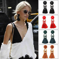 Fashion Bohemia Long Tassel Fringe Earrings Dangle Eardrop Women Jewelry Gifts