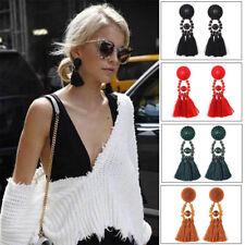 Lady Bohemia Long Tassel Drop Dangle Earrings Ear Studs Eardrop Jewelry Random