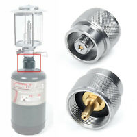 1pcs Camping Propane Small Gas Tank Adapter Input Lindal Output Stove Outdoor