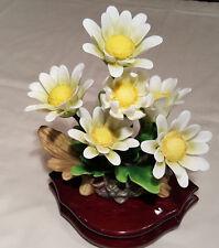 "Reuge Music Porcelain Flowers Musical Figurine Playing - "" Lara's Theme """