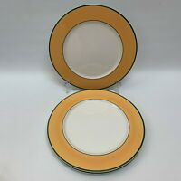 "Pagnossin Treviso Yellow Green White Charger Chop Dinner Plates 12 1/8"" Lot of 3"