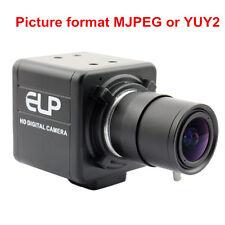 Varifocal 5-50mm Lens 8MP Mini USB Camera SONY IMX179 For Industrial Monitoring