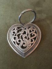 Vintage Valentine Heart Keychain Metal Love Knots In Heart