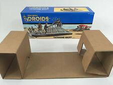 custom vintage star wars Droids prototype tatooine skiff box and inserts