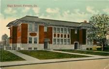 Georgia, GA, Forsyth, High School Early Postcard
