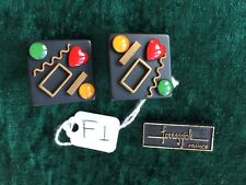 Pierre Bex Ferraggioli Black/Enamel/Gold Plate Ear Clips CHOOSE DESIGN FROM PIC