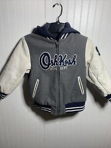 Oshkosh Bgosh Boy Athletic Logo Jacket Gray Size - 6