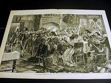 Great Britain KING'S CHRISTMAS FEAST WINE FOOD SOLDIERS 1878 Lg Print w POEM