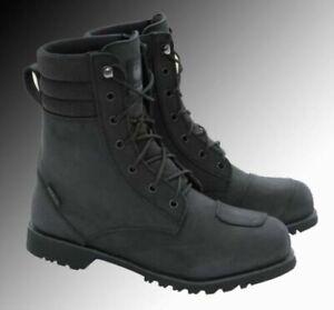 Merlin Heritage Drax G24 leather motorcycle boots in black brown or dark brown