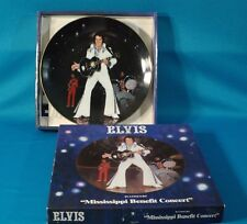 "Elvis Presley In Concert Series ""Mississippi Benefit"" Plate w/Box & Coa"