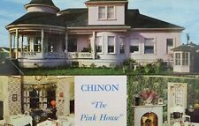 "Chinon ""The Pink House"", Richmond, Cal. Vintage Postcard P105"