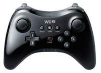Official Genuine Wii U Pro Controller  Wireless Gamepad Black for Nintendo Wii U