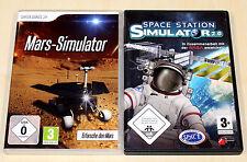 2 PC juegos colección-Space Station & Mars simulador-espacial Apollo Shuttle