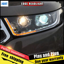 For Ford Edge Headlights assembly Bi-Xenon Lens Double Beam HID KIT 2015-2018