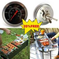 1*BBQ Pit Smoker Grill Thermometer Gauge Temp Outdoor Camping Barbecue Hood