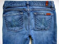 "Seven 7 For All Mankind Blue Jeans Woman Size 28 ""A"" Pocket FIT BOOT CUT Denim"