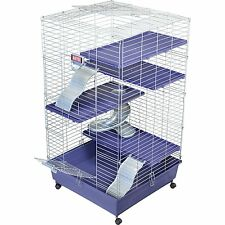 Kaytee Deluxe 24 x 24 Multi-Level Ferret Home with Casters. Ferret Cage.