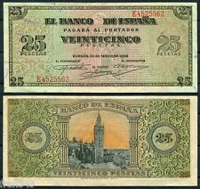 25 Pesetas año 1938   EBC  /  SPAIN  Pick 111  XF