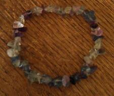 Fluorite Crystal Healing Chip Bead Bracelet