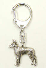 Toy Terrier Silver Keyring