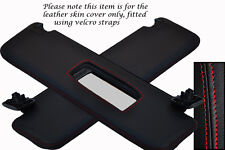 RED STITCHING FITS VAUXHALL OPEL TIGRA 04-09 2X SUN VISORS LEATHER COVERS ONLY