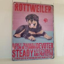 ROTTWEILER CHIC N SHABBY VINTAGE METAL DOG SIGN