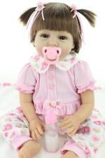 "Vinyl Soft Handmade 22"" Doll Silicone Lifelike Reborn Girl Baby Dolls Toddler"