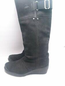 SOREL Slimboot Women's Size 9 Waterproof Tall Boots Black Wedge