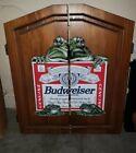 🚨🔥Budweiser Frogs Dart Board!! Rare!! Discontinued! USA Busch