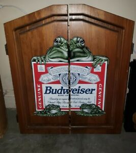 Budweiser Frogs Dart Board!! Rare!! Discontinued!! Will Not Find Another!! USA
