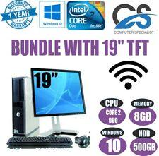 Completo sistema ORDENADOR PC de sobremesa Core 2 Duo @ 3.00ghz & 19'' TFT 8gb