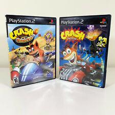 Crash: Nitro Kart + Tag Team Racing (Playstation PS2) Both CIB Complete - TESTED