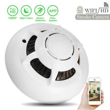 HD 1080p WiFi Camera Hidden Smoke Detector Motion Detection Nanny Cam DVR