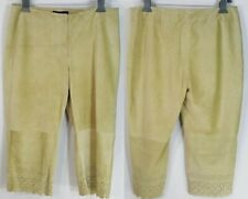 NWT Express Suede Leather Pants Size 13/14 Jr Women LINED Capri / Cropped