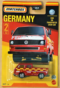 2021 MATCHBOX BEST OF GERMANY #2/12 - 1990 VW TRANSPORTER CAB - WITHOUT TOOLS