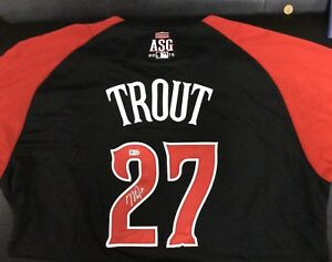 2015 Mike Trout Autograph All Star Jersey signed Auto MLB COA LA Angels Rare