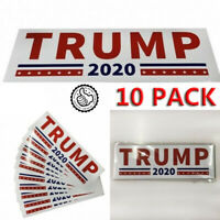 10x Donald Trump For President 2020 White Bumper Sticker Keep Make America Great